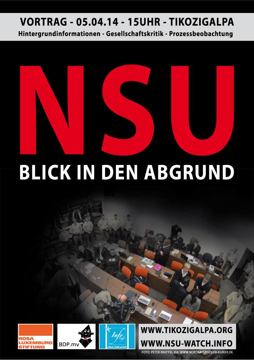 NSU Blick in den Abgrund Plakat